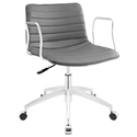 Clayton Modern Gray + Chrome Low Back Office Chair