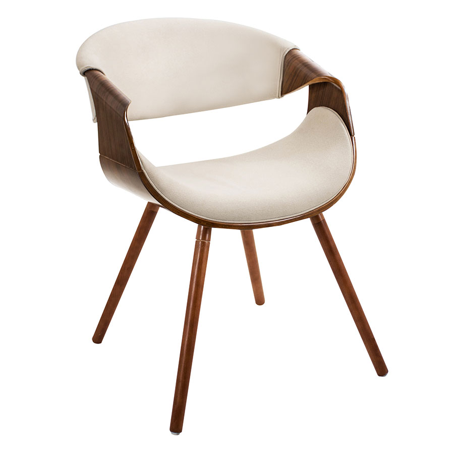 Modern dining chairs clifton cream arm chair eurway for Contemporary seating chairs