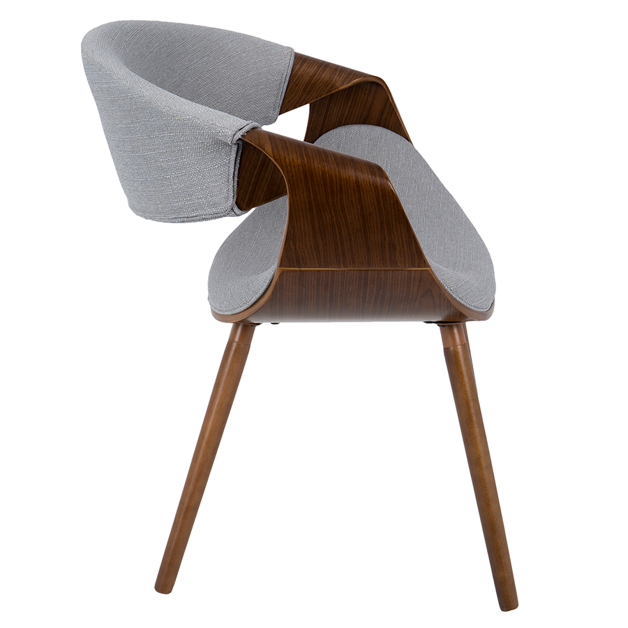 ... Clifton Gray + Walnut Modern Arm Chair ...