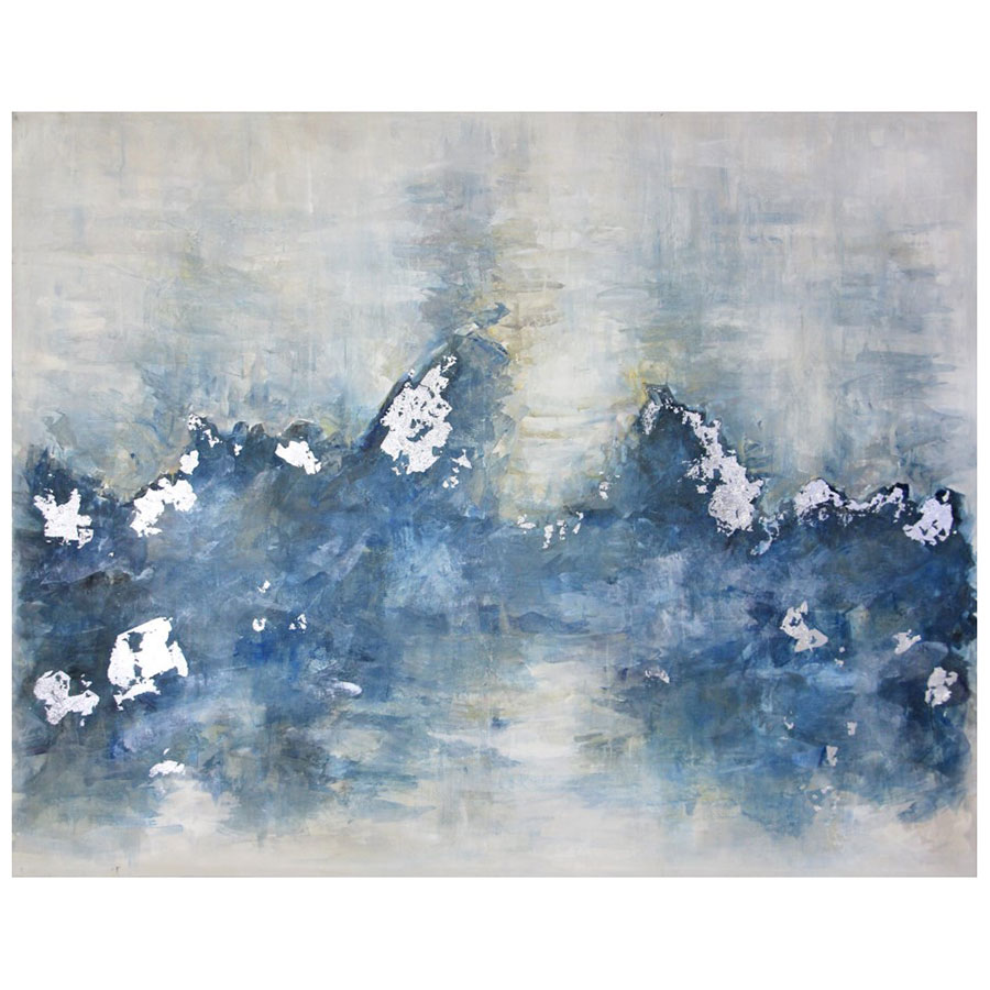 Clouds Below 68x54 Hand Painted Gallery Canvas Wrap