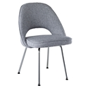 coburg modern classic dining chair in gray
