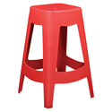 Coda Red Modern Counter Stool