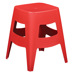 Coda Red Modern Dining Stool