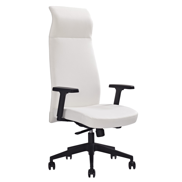 Columbia White Modern Executive Office Chair