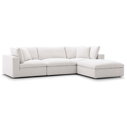 Command Modern 4pc Beige Fabric Sectional Sofa