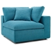 Command Modern 4pc Teal Fabric Sectional Sofa - Corner Chair