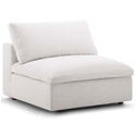 Command Modern Beige Fabric Armless Chair