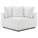Command Modern White Fabric Corner Chair