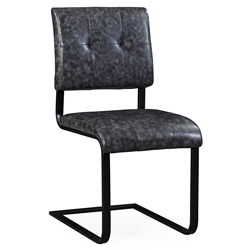 Crispus Gray Eco Leather Modern Chair