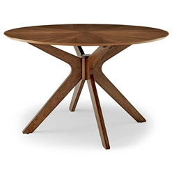 "Concord 47"" Round Modern Walnut Dining Table"