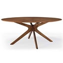 "Concord 71"" Modern Walnut Oval Dining Table"
