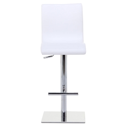 Condor SG Adjustable Stool in White + Chrome by Pezzan