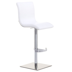 Condor SGT Adjustable Bar Stool in White by Pezzan