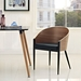 Conley Black + Walnut Contemporary Arm Chair