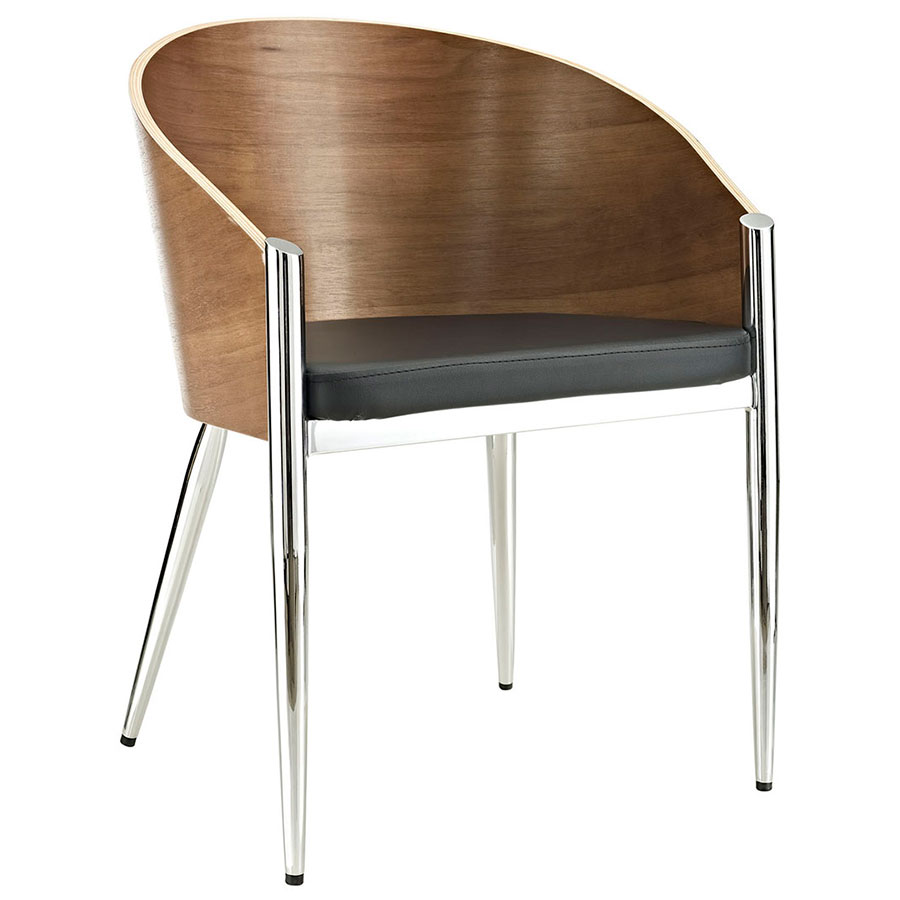 Modern Dining Chairs Conley Chrome Arm Chair Eurway