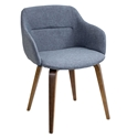 Connall Blue Modern Arm Chair