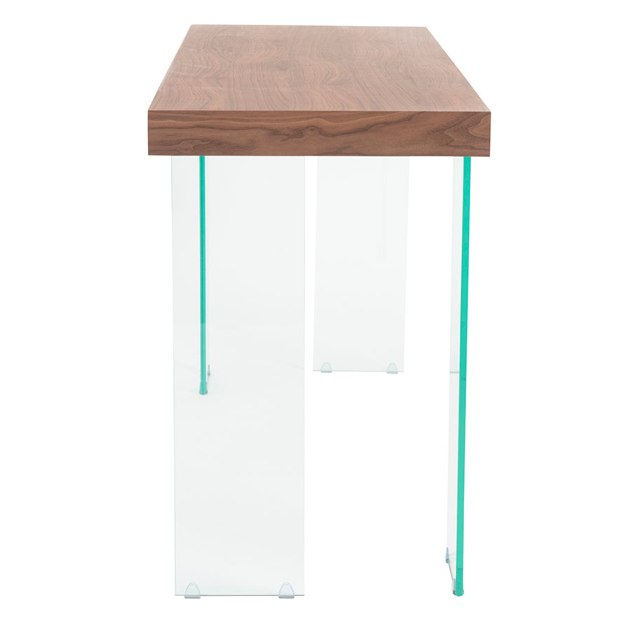 Good ... Connor Walnut Top + Tempered Glass Legs Contemporary Console Table