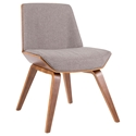 Constance Modern Gray + Walnut Side Chair