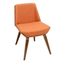 Constance Orange Modern Side Chair