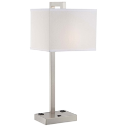 Convo Modern Brushed Nickel Table Lamp