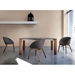 Domitalia Coquille-L Chairs in Gray Wool + Walnut