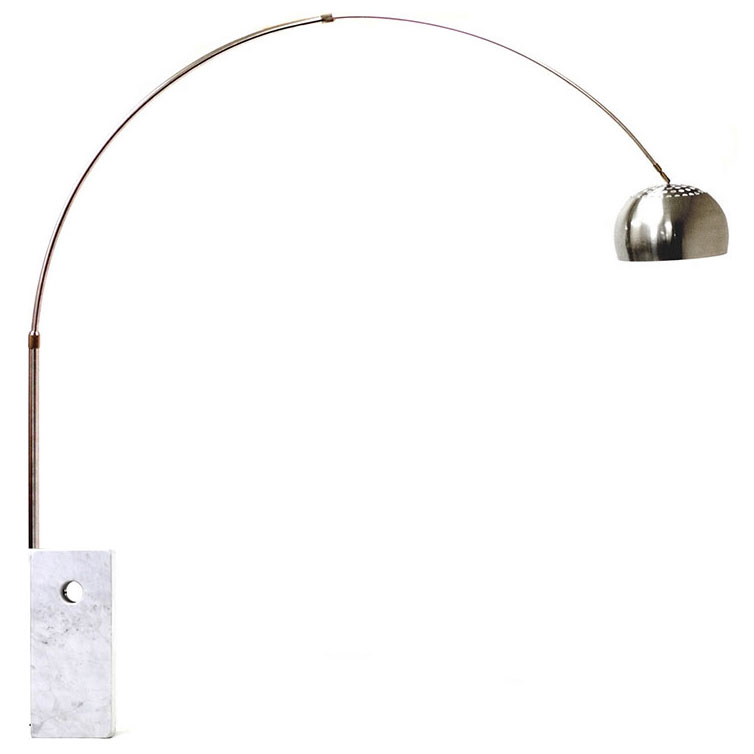 modern floor lamps cora arc lamp w white marble base