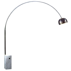 Modern Floor Lamps - Cora Arc Lamp w/ White Marble Base