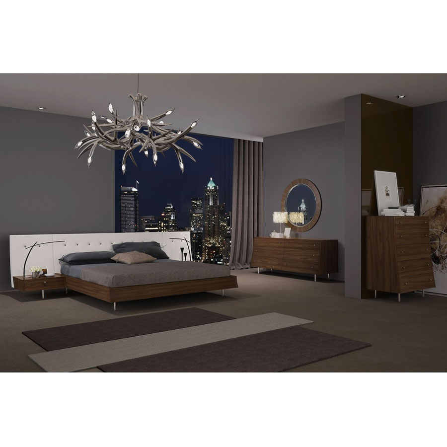 Cordoba Modern Walnut Bedroom Collection