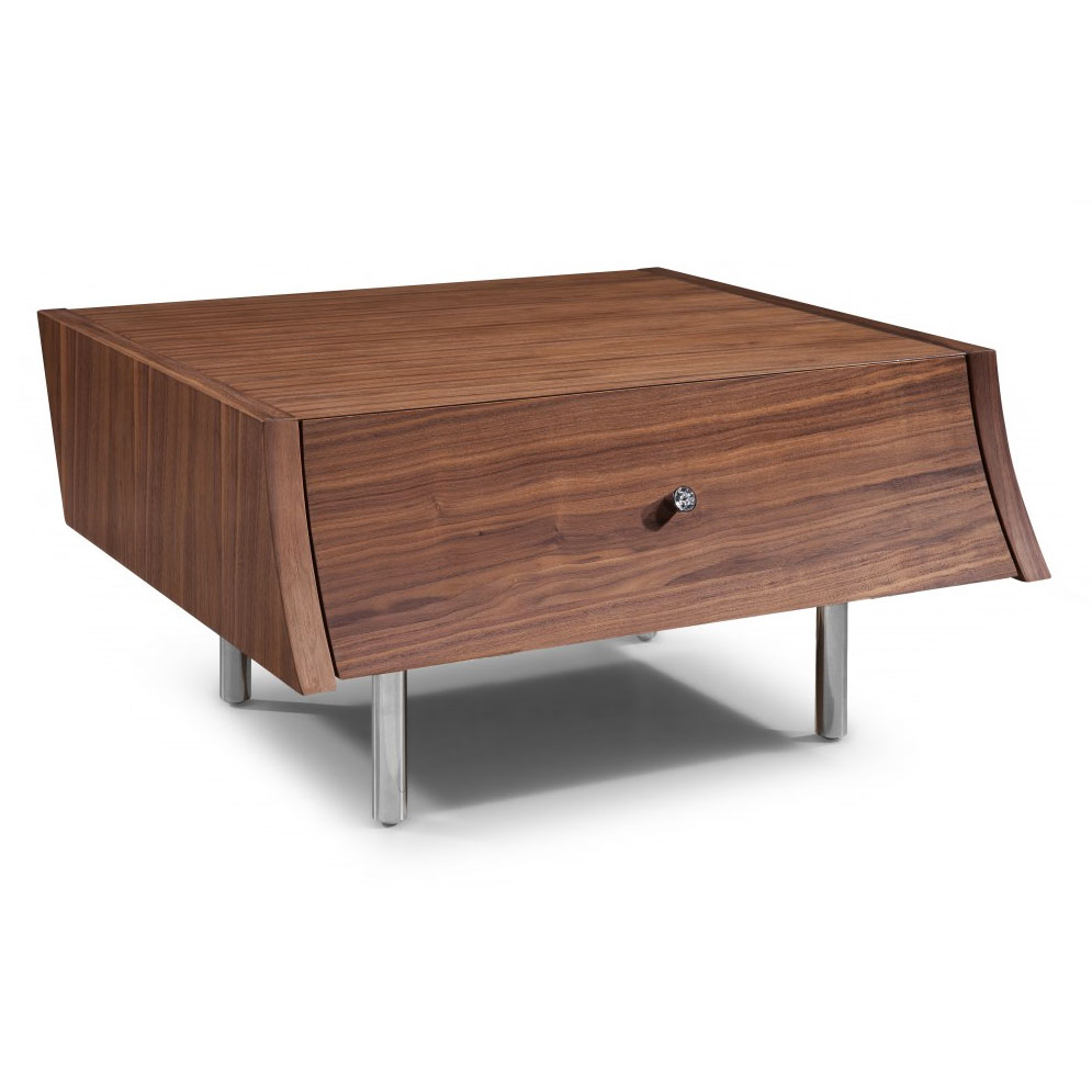 modern nightstands  cordoba walnut nightstand  eurway - cordoba modern walnut nightstand