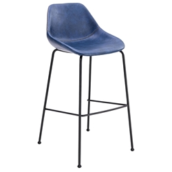 Corinna Modern Bar Stool in Dark Blue by Euro Style