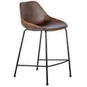 Corinna Modern Counter Stool in Brown by Euro Style