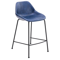 Corinna Modern Counter Stool in Dark Blue by Euro Style