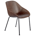 Corinna Modern Side Chair in Brown by Euro Style