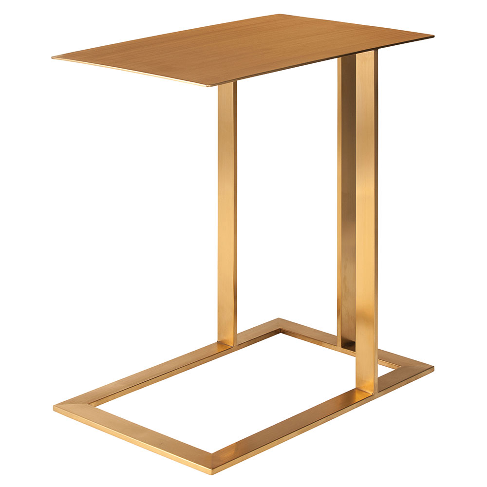 Corinth Gold Steel Modern Rectangular Side Table