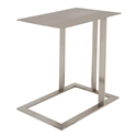 Corinth Brushed Steel Modern Rectangular Side Table