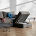 Cornila Modern Storage Ottoman in Taupe by Innovation - Open