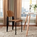 Cornwall Black + Walnut Modern Dining Side Chair