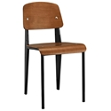 Cornwall Black + Walnut Modern Side Chair