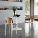 Cornwall White + Natural Modern Dining Side Chair