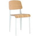 Cornwall White + Natural Modern Side Chair