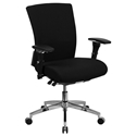 Corona 300 lb Capacity Black Fabric Low Back Office Chair