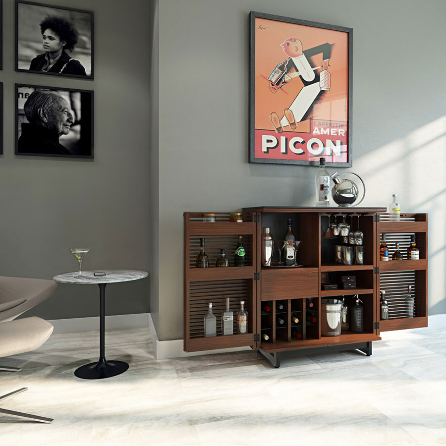 corridor bar in chocolate walnut by bdi - Bdi Furniture