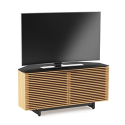 Corridor Oak Corner Contemporary TV Stand