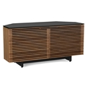 Corridor Walnut Corner Contemporary TV Stand by BDI