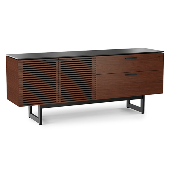 BDI Corridor Chocolate Stained Walnut Contemporary Credenza
