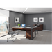 BDI Corridor Chocolate Stained Walnut Contemporary Office Furniture Set
