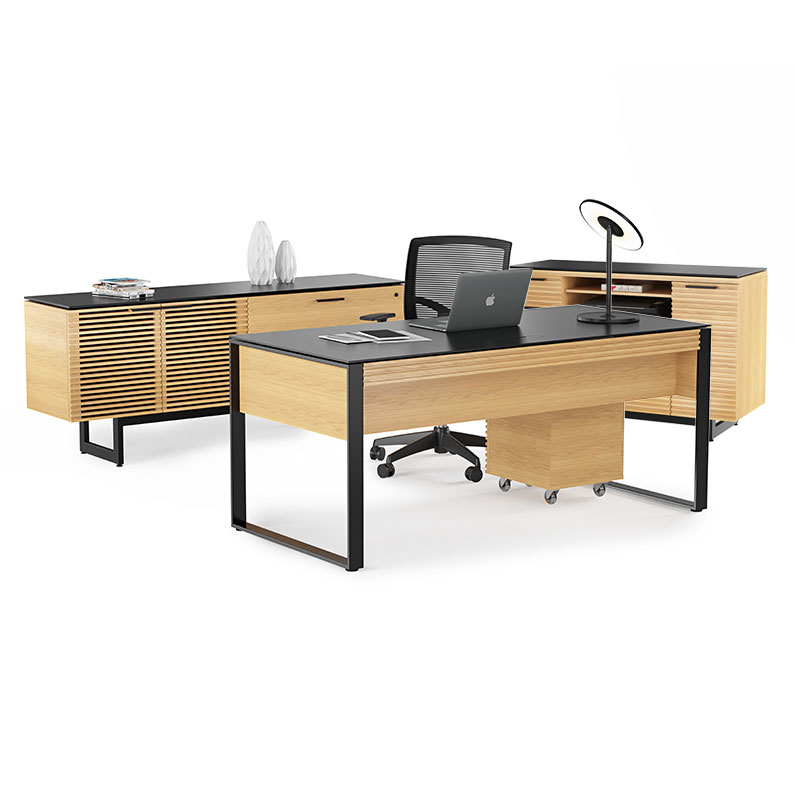 Call To Order · Corridor Modern Executive Office Set In White Oak Wood By  BDI
