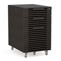 BDI Corridor Charcoal Contemporary Mobile File Pedestal