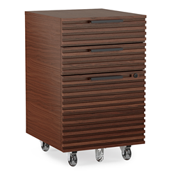 BDI Corridor Chocolate Contemporary Mobile File Pedestal