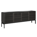 BDi Corridor SV 7129 Charcoal Stained Ash Modern Media Console